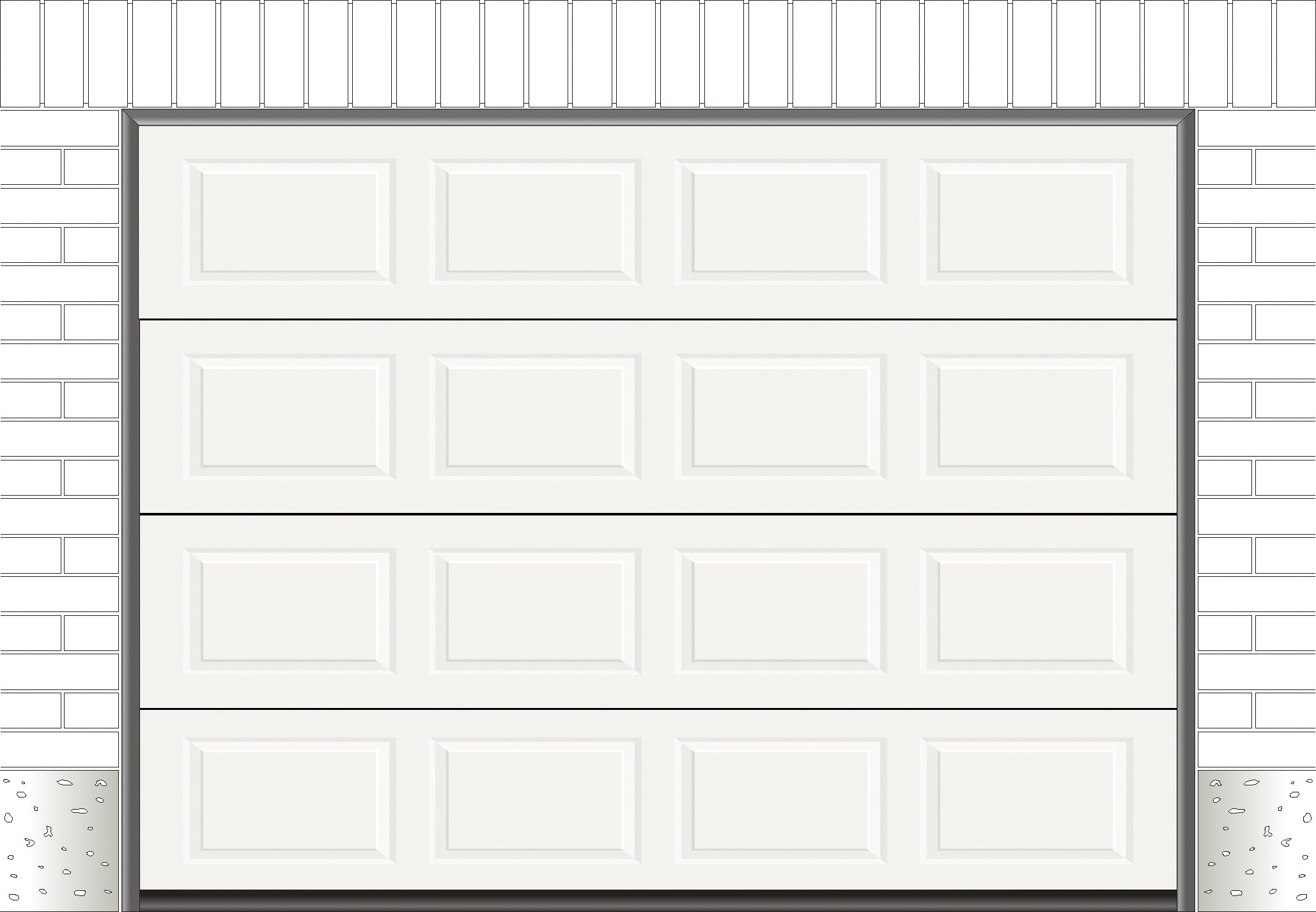 Garageport Garageportexperten R30 Kassett Vit 2500x2000 mm Ink. Skenor