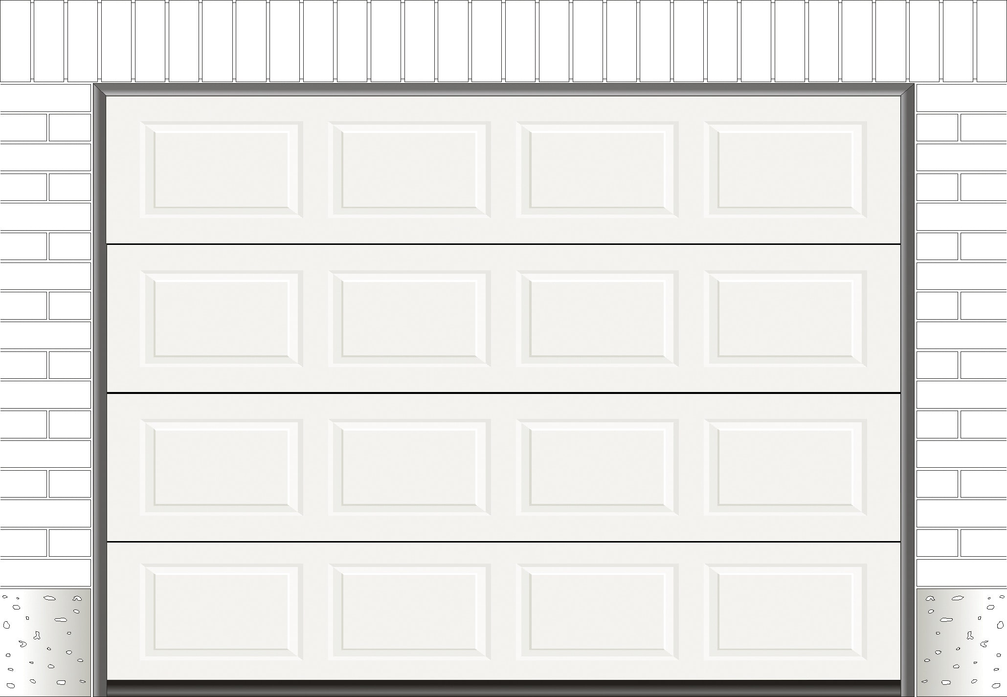 Garageport Garageportexperten R30 Kassett Vit 2500x2125 mm Ink. Skenor