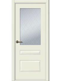 Дверное полотно Belwooddoors Роялти, со стеклом, эмаль, 800 х 2000 мм, жемчуг