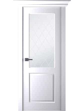 Дверное полотно Belwooddoors Alta, со стеклом, эмаль, 800 х 2000 мм, белое