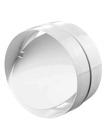 Соединитель для круглых каналов 5584, с клапаном, 100 мм