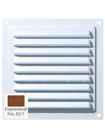 Решетка металлическая МВМ 150c коричневая
