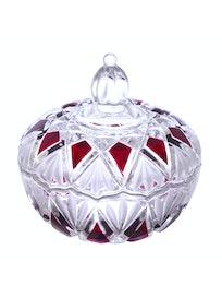 Сахарница с крышкой Гранат, стекло