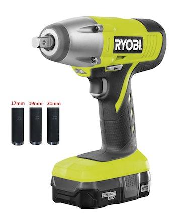Mutterdragare Ryobi BIW180-L13S Inklusive Hylsor
