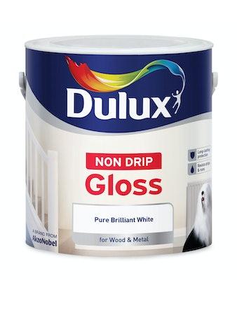 Краска Dulux Non-Drip Gloss ослепительно белая алкидная глянцевая