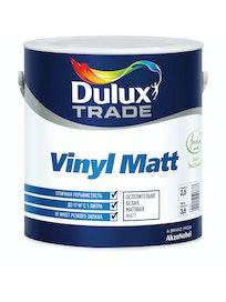 Краска для стен Dulux Trade Vinyl, матовая, база BС, 2,5 л