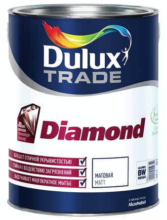 Краска повышен. износостойкости д/стен и потолков Dulux Diamond Matt база BM 5л