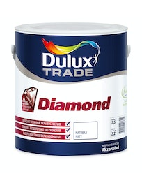 Краска для стен Dulux Trade Diamond, матовая, база BW, 2,5 л