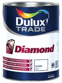 Краска для стен Dulux Trade Diamond, матовая, база BW, 5 л