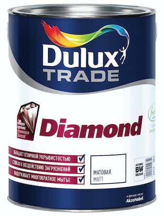 База для колеровки Dulux Trade Diamond Matt BW сверхпрочная матовая белая