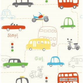Tapet Just 4 Kids Busses Cars 2 DL30708