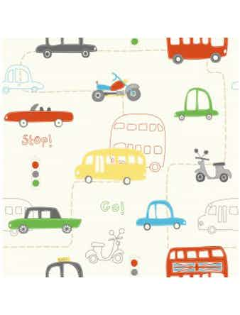Tapet Just 4 Kids Busses Cars 2 DL30708