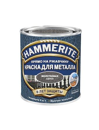 Краска Hammerite молотковая серая 0,7 5л
