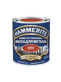 Краска Hammerite гладкая, красная, 5 л