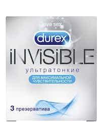 Презервативы Durex Invisible, ультратонкие, 3 шт.