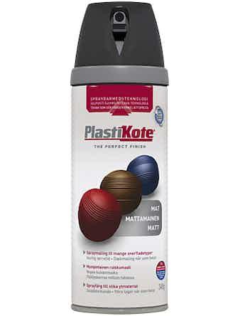 Sprayfärg Plastikote Matt Svart