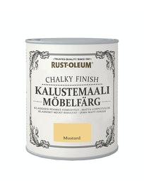 RUST-OLEUM CHALKY FINISH KALUSTEMAALI 750ML MUSTARD