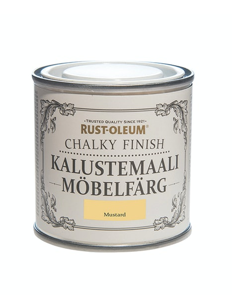 RUST-OLEUM CHALKY FINISH KALUSTEMAALI 125ML MUSTARD