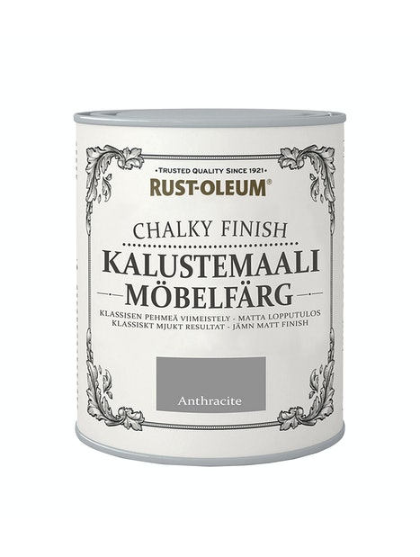 RUST-OLEUM CHALKY FINISH KALUSTEMAALI 750ML ANTHRACITE