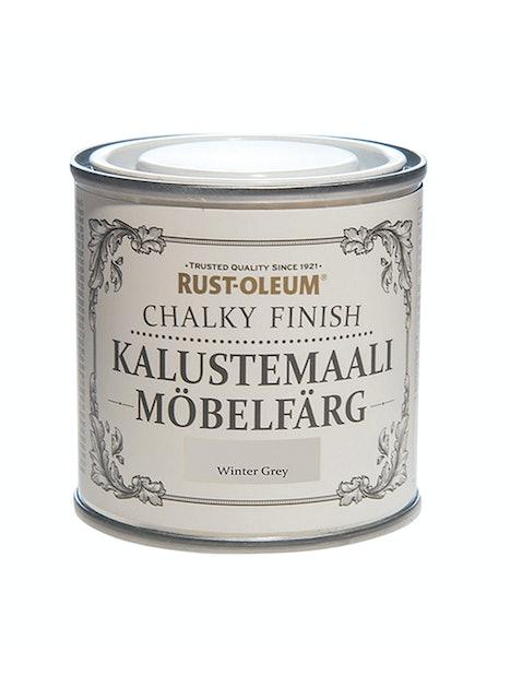 RUST-OLEUM CHALKY FINISH KALUSTEMAALI 125ML WINTER GREY