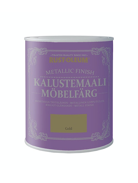 RUST-OLEUM METALLIC FINISH KALUSTEMAALI 750ML GOLD