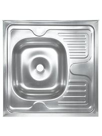 Мойка накладная Владикс, нержавеющая сталь, левосторонняя, 60 х 80 см