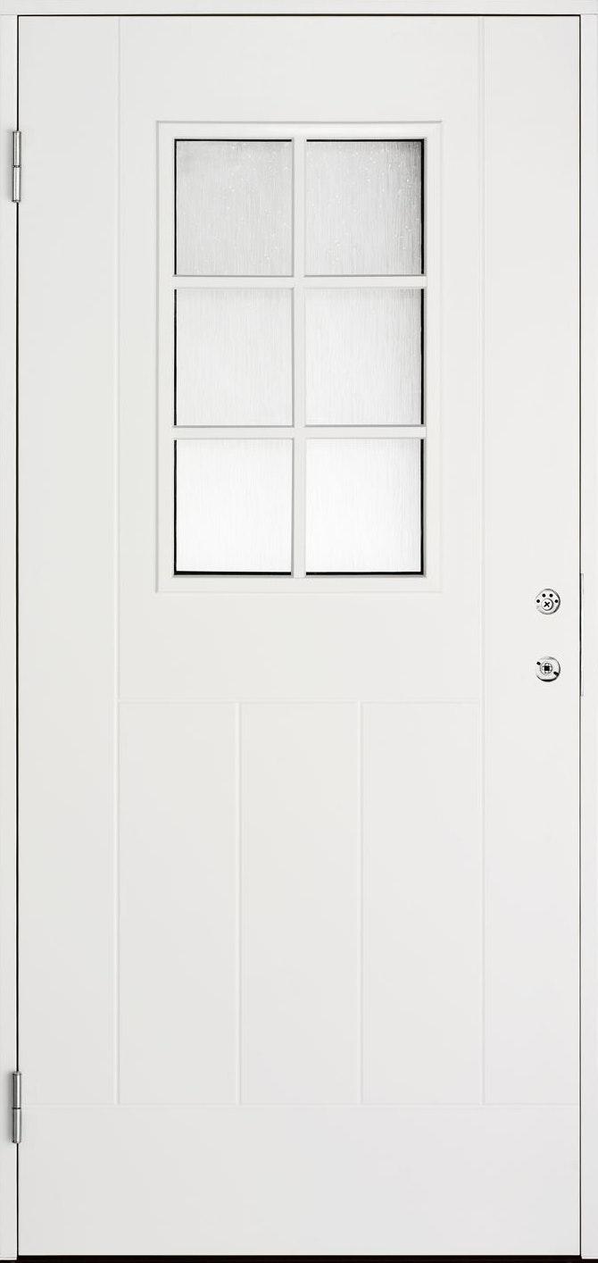 Ytterdörr Cello Vit 6-Glas Vit 10X21 Vänster