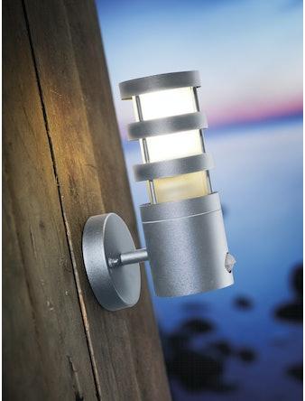 Vägglampa Nordlux Darwin Med Sensor Aluminium