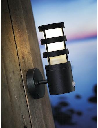 Vägglampa Nordlux Darwin Med Sensor Svart