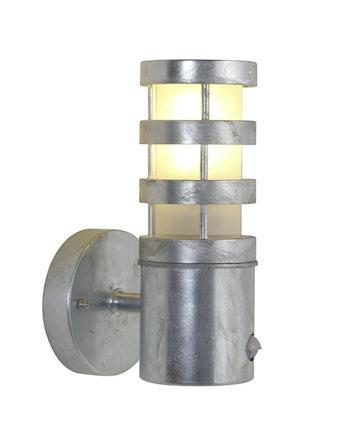 Vägglampa Nordlux Darwin Med Sensor Galvaniserad