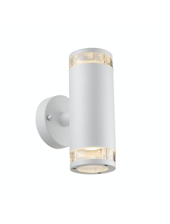 Vägglampa Nordlux Birk Dubbel IP44 GU10 Vit