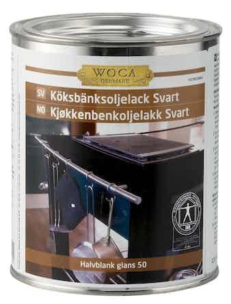 Oljelack Woca För Köksbänkar Halvblank Svart 750ml
