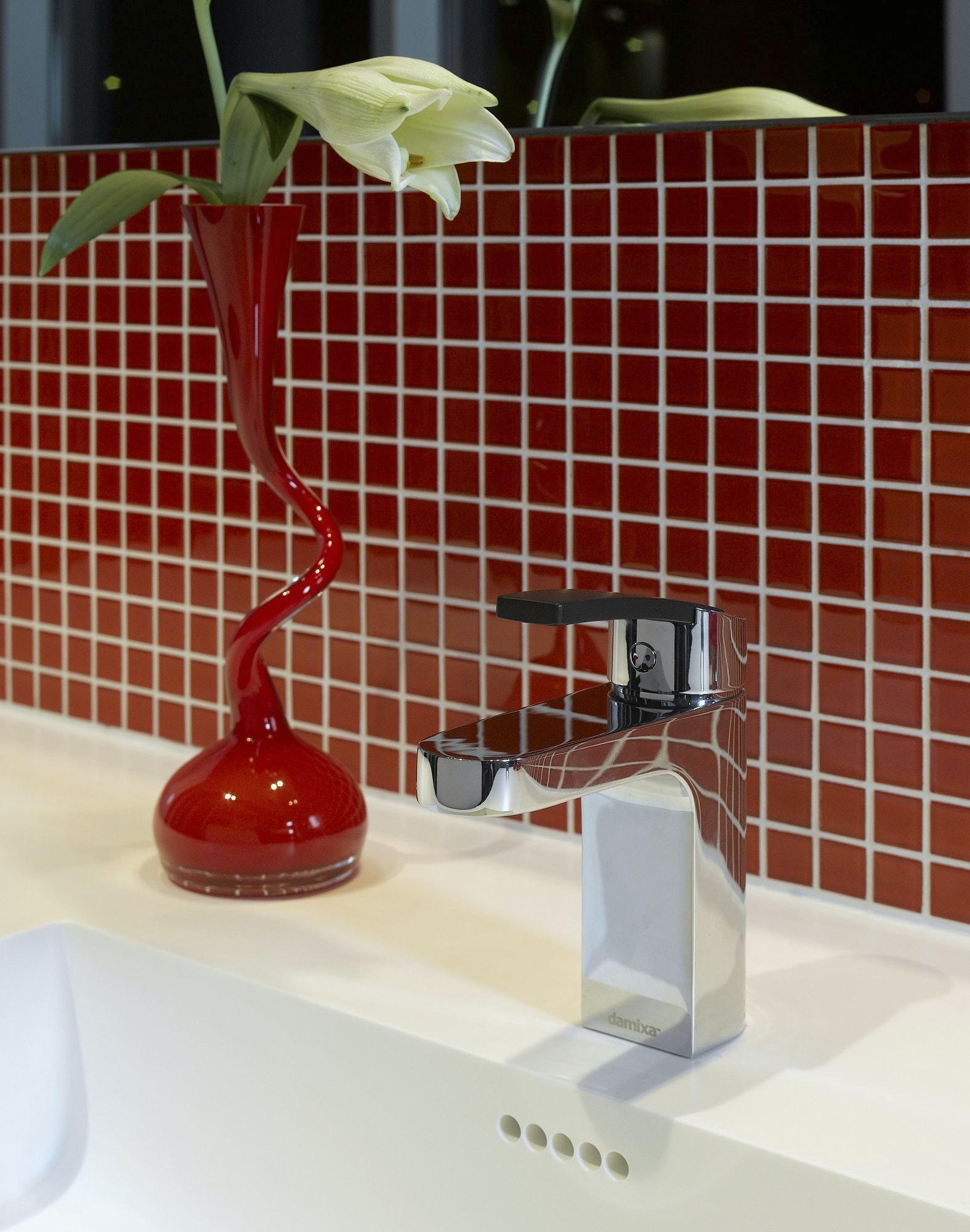 Tvättställsblandare Damixa Slate Bottenventil Krom