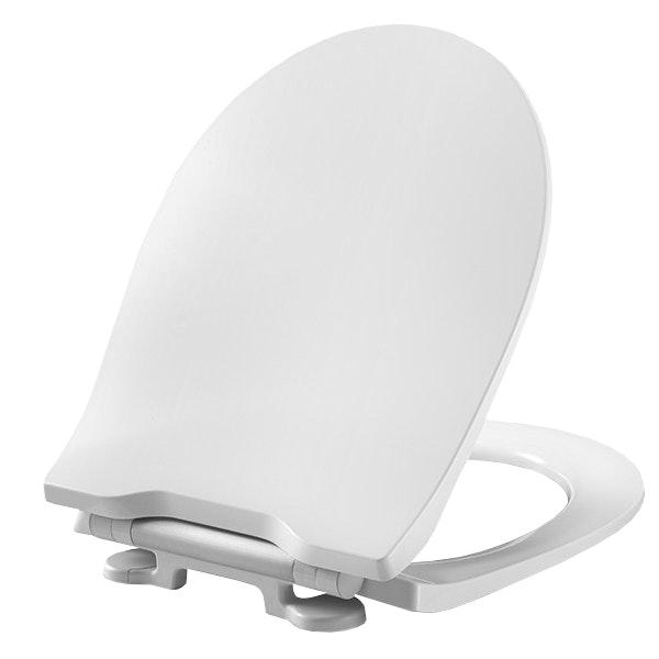 WC-Sits Saniscan Solid Polygiene Soft close Vit