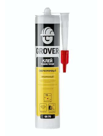 Клей GROVER GR70 сверхпрочный прозрачный, 300 мл