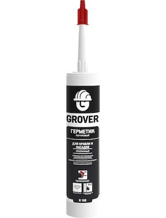 Герметик каучуковый для кровли и фасадов Grover R100 прозрачный 300мл