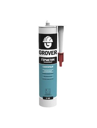 Герметик силиконовый санитарный Grover S100, белый, 300 мл