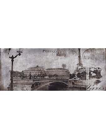 Декор настенный Postcard grey 1, 20 х 50 см