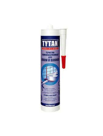 Герметик силиконово-акриловый для кухни Tytan прозрачный 310 мл