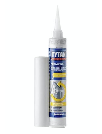 Герметик силиконовый универсальный Tytan Prof, белый, 80 мл