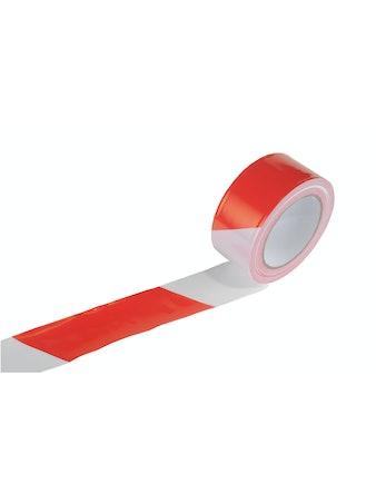 Varningsband Asm Vit/Röd 50X100M