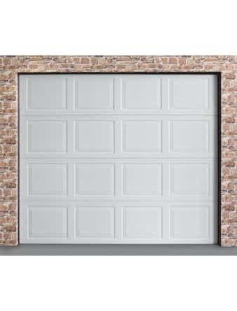 Garageport Spegel vit 2400x2000