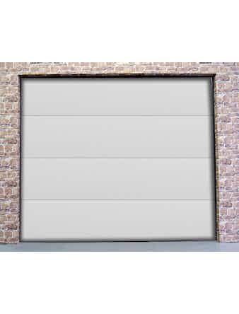 Garageport Slät vit 2400x2125