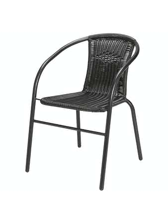 Stol Till Cafe Set Emma Metall/Ply Rott
