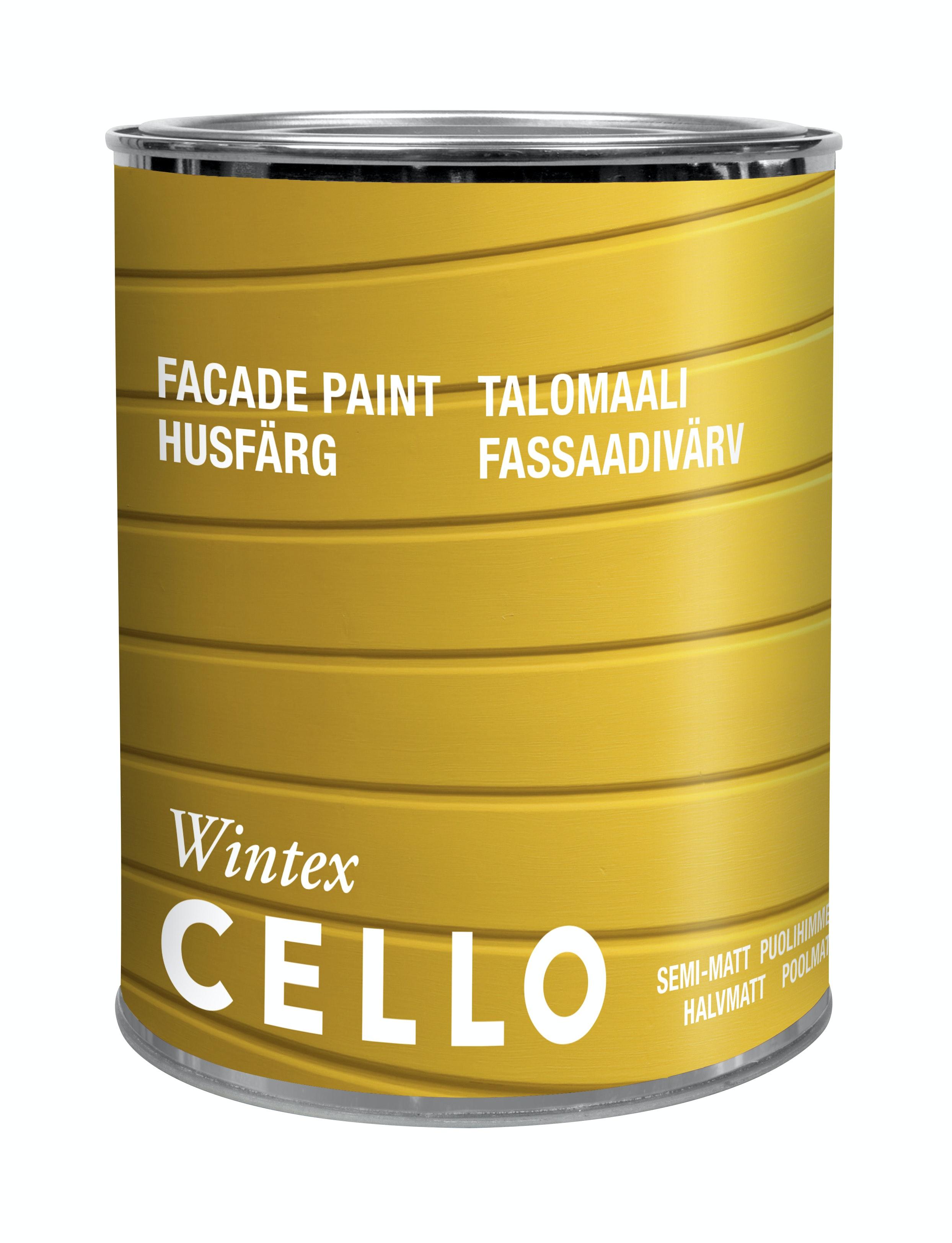 Utomhusfärg Cello Wintex Halvmatt Vit/Bas 1 0,9l