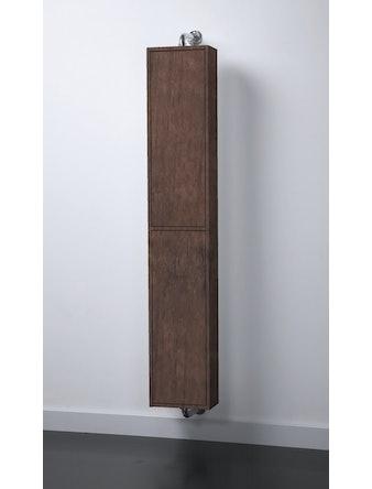 Högskåp badrum Excellent Miranda 30 cm valnöt roterande