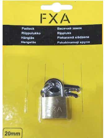 Hänglås Fxa 20mm 2-Pack