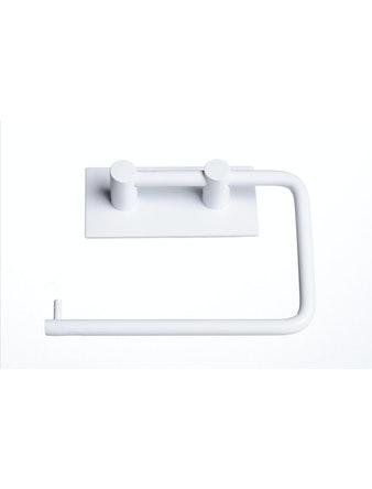 Toalettpappershållare Cello Självhäftande Vit