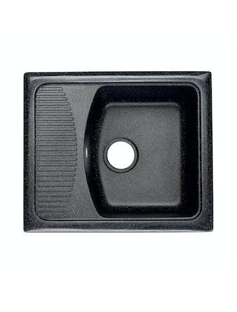 Мойка мраморная Fosto КМ 58-50, черная, 57,5 х 49 см
