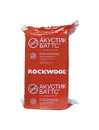 Звукоизоляция Rockwool Акуст Баттс 1000 х 600 х 90 мм